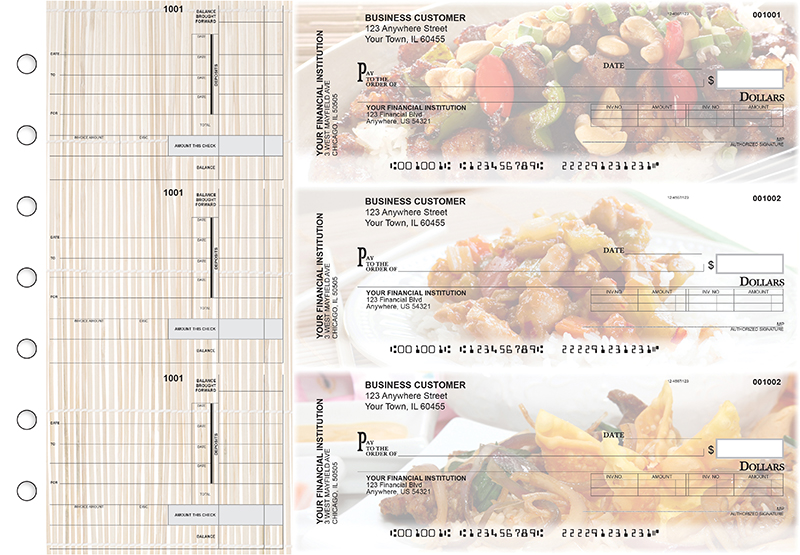 Chinese Cuisine Invoice Business Checks