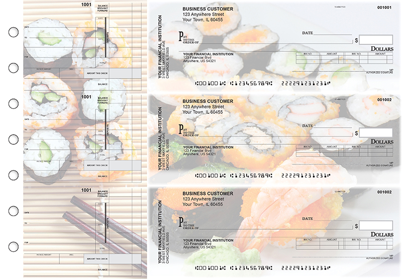 Japanese Cuisine Invoice Business Checks