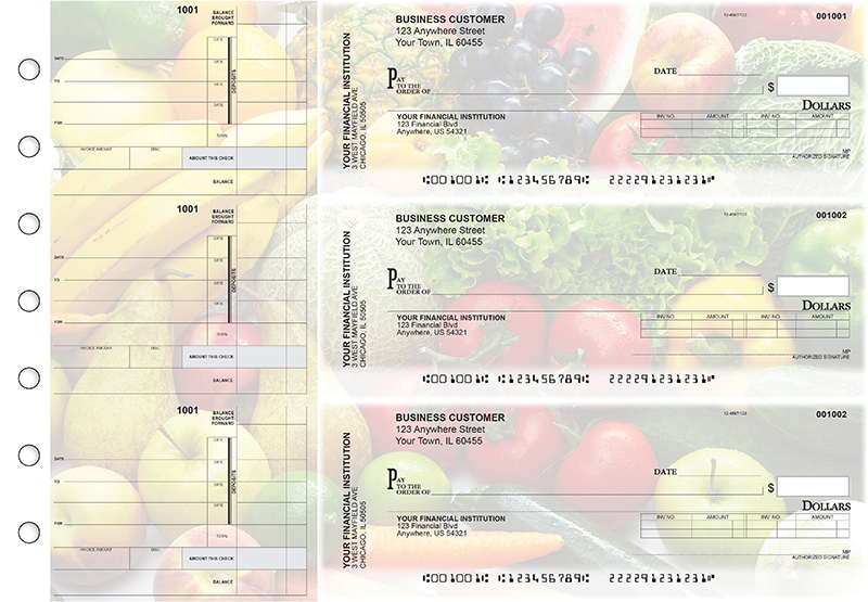 Fresh Produce Invoice Business Checks