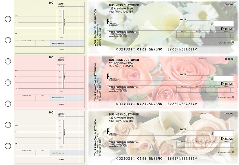 Florist Invoice Business Checks