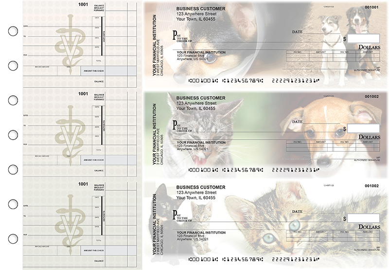 Veterinarian Invoice Business Checks