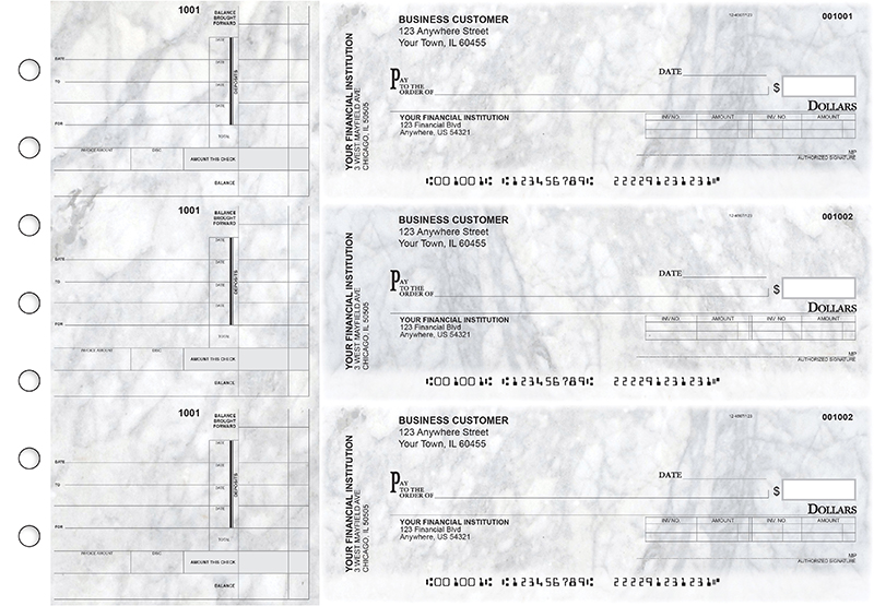 Marble Invoice Business Checks