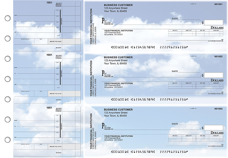 Clouds Invoice Business Checks