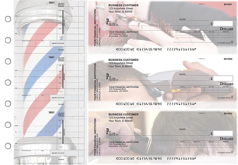 Barber Invoice Business Checks