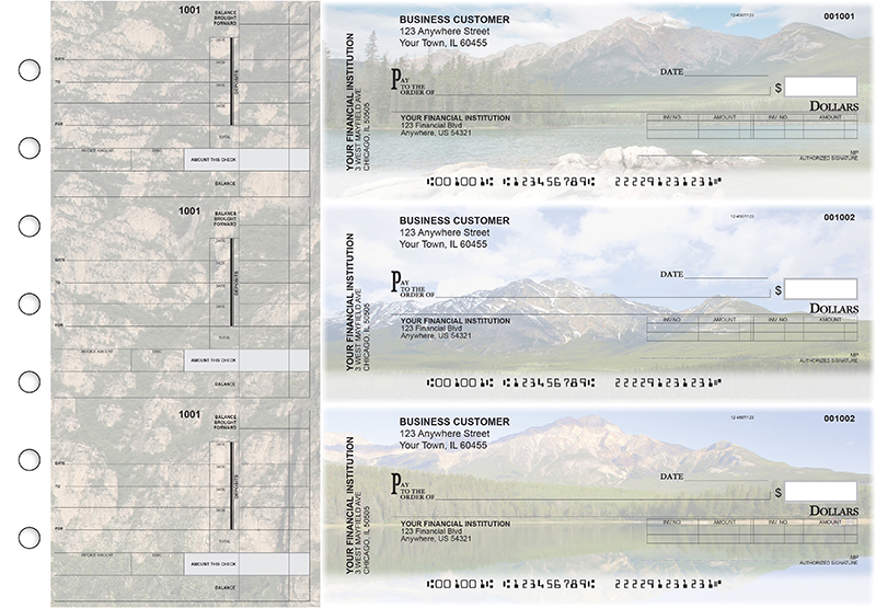 Scenic Mountains Invoice Business Checks