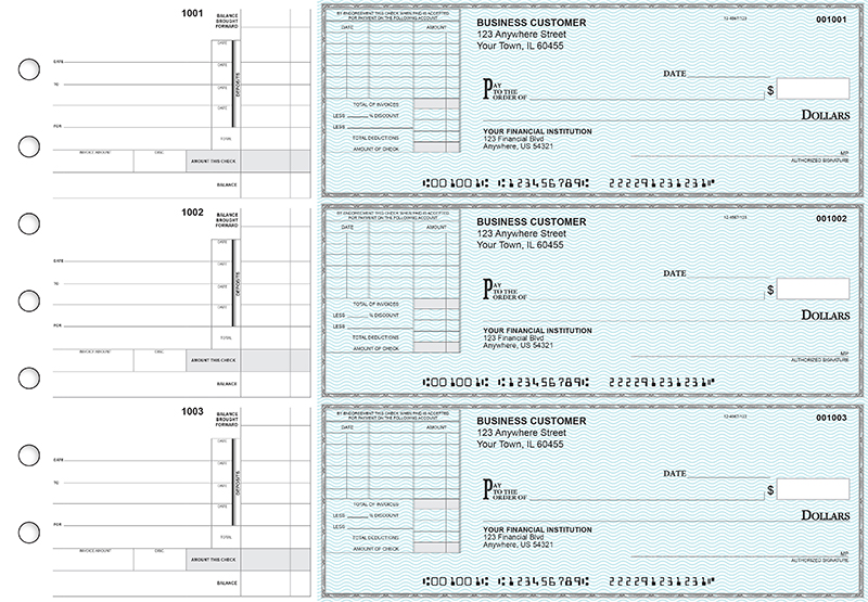 Teal Safety Itemized Invoice Business Checks