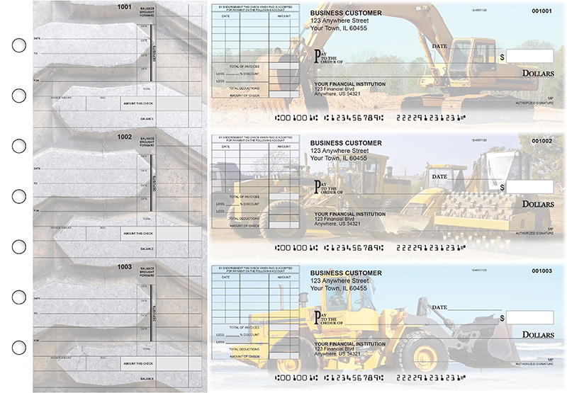 Construction Itemized Invoice Business Checks