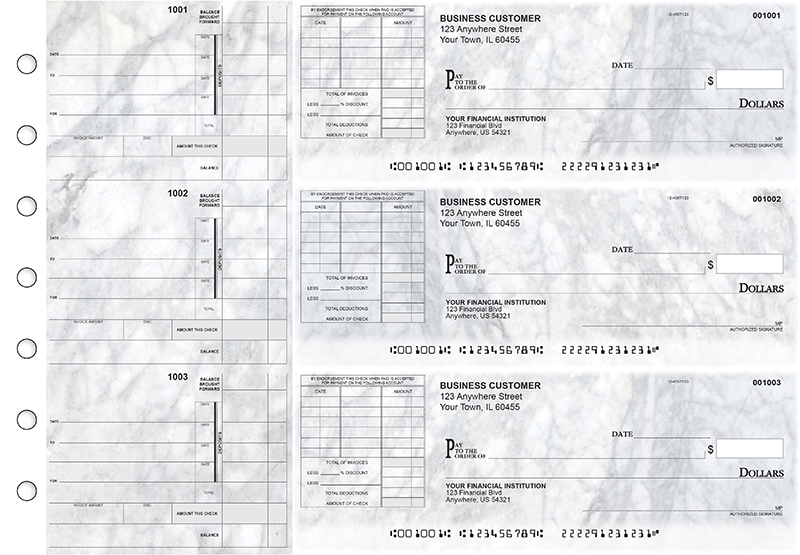 Marble Itemized Invoice Business Checks