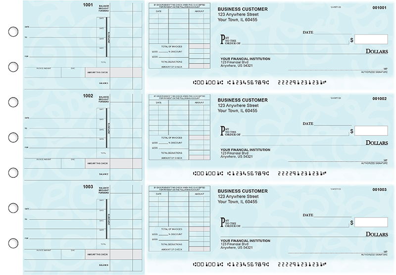Swirls Itemized Invoice Business Checks