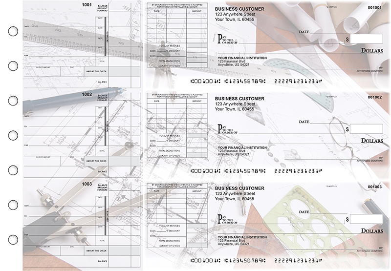 Architect Itemized Invoice Business Checks