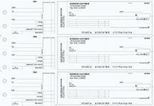 Blue Knit Standard Invoice Business Checks