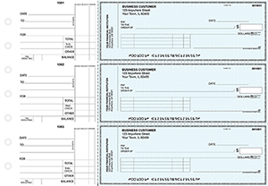 Teal Safety Standard Invoice Business Checks