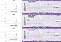 Purple Marble Standard Invoice Business Checks