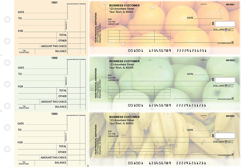 Fruit Standard Invoice Business Checks