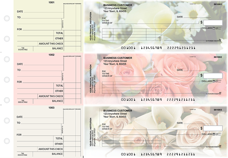 Florist Standard Invoice Business Checks