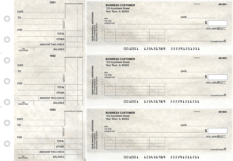 Granite Standard Invoice Business Checks