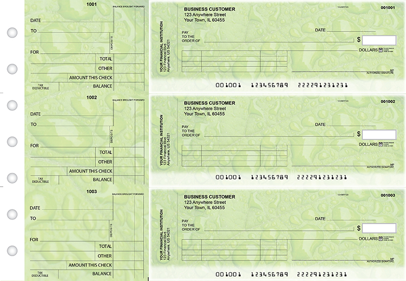 Leaf Standard Invoice Business Checks