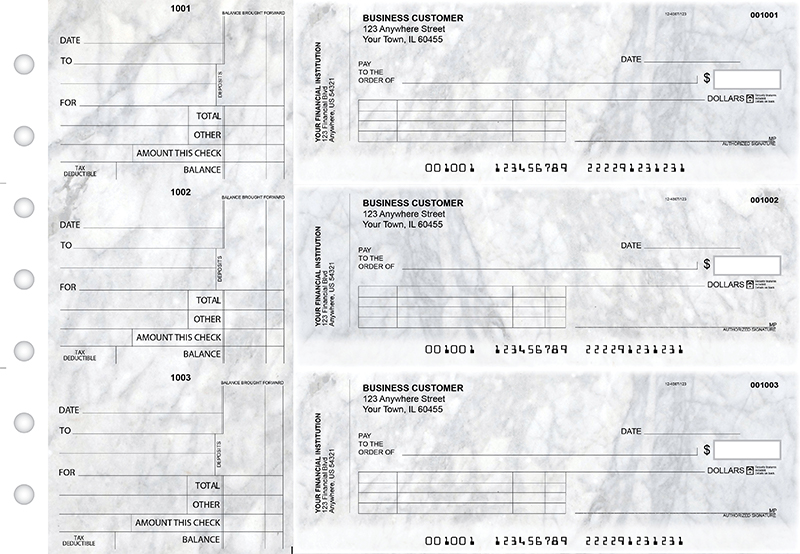 Marble Standard Invoice Business Checks