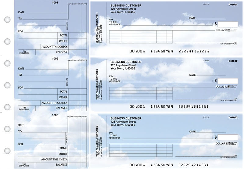 Clouds Standard Invoice Business Checks