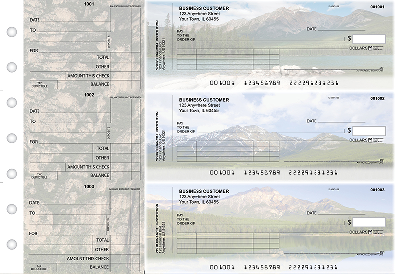 Scenic Mountains Standard Invoice Business Checks