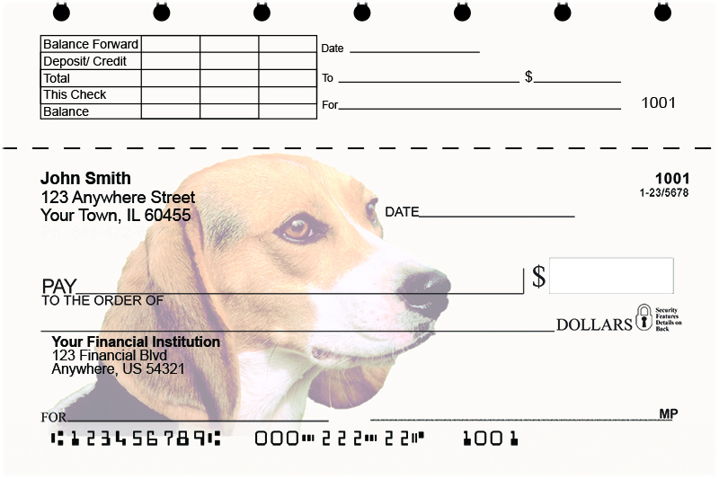 Beagles Top Stub Checks