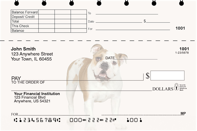 Bulldogs Top Stub Checks