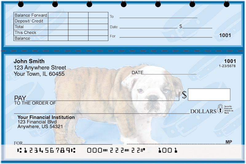 Bulldog Pups Keith Kimberlin Top Stub Checks