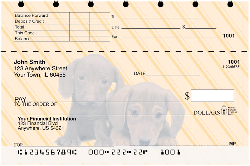 Dachshunds Pups Keith Kimberlin Top Stub Checks