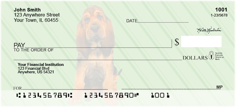 Bloodhound Pups Keith Kimberlin Personal Checks