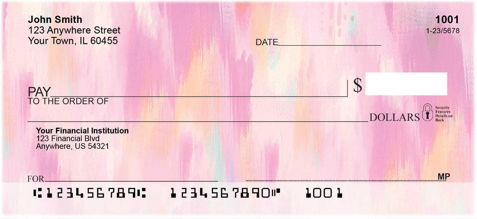 Pretty Pinks Personal Checks by EttaVee
