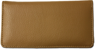 Tan Texured Leather Checkbook Cover