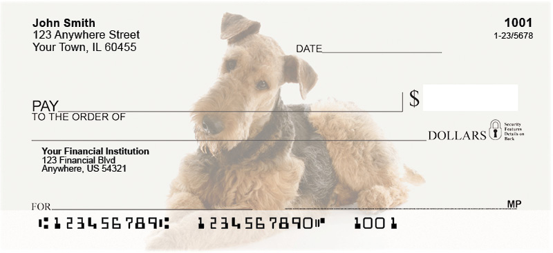 Airedale Terrier Personal Checks