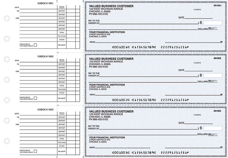 Blue Safety Accounts Payable Business Checks