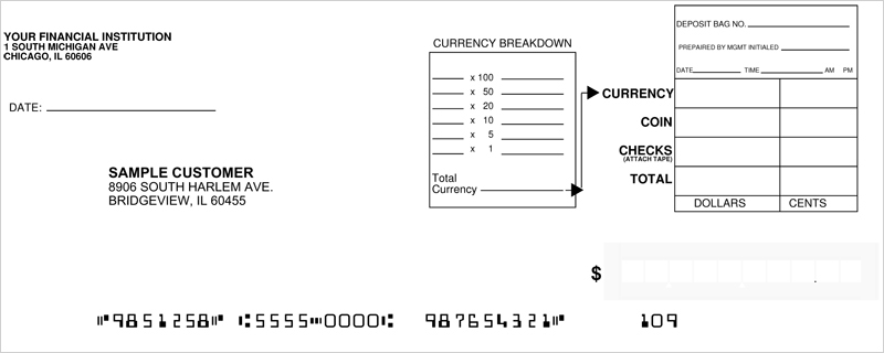 Loose Business Deposit Slips Style 5