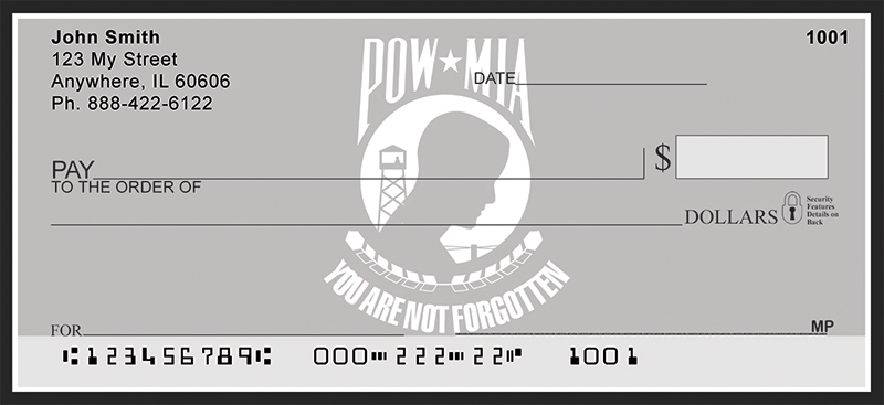 POW MIA Personal Checks