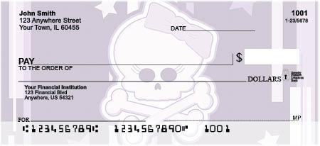 Girly Skulls Personal Checks - Skull Checks