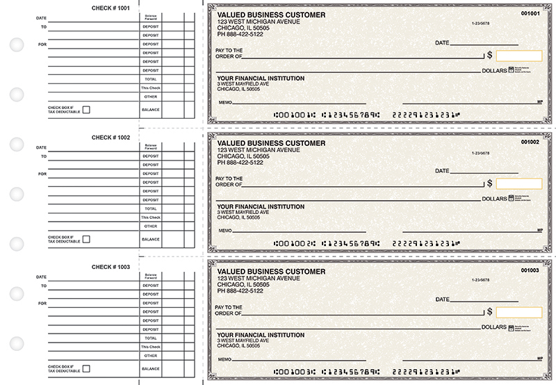 Tan Parchment Accounts Payable Business Checks