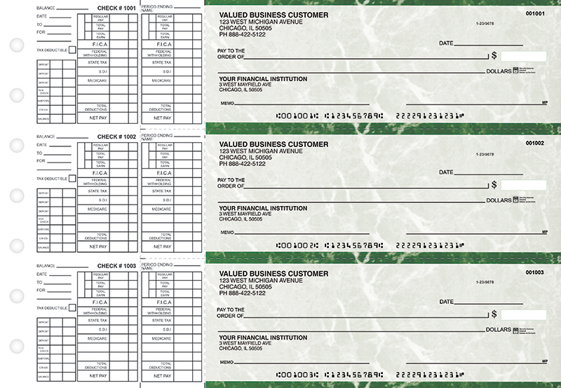 Green Marble Payroll Business Checks