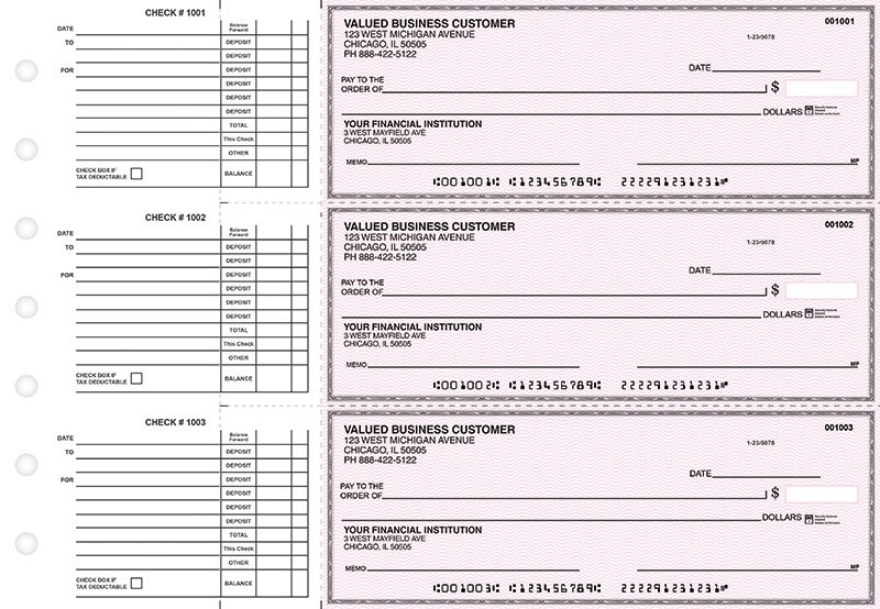 Pink Safety Accounts Payable Business Checks