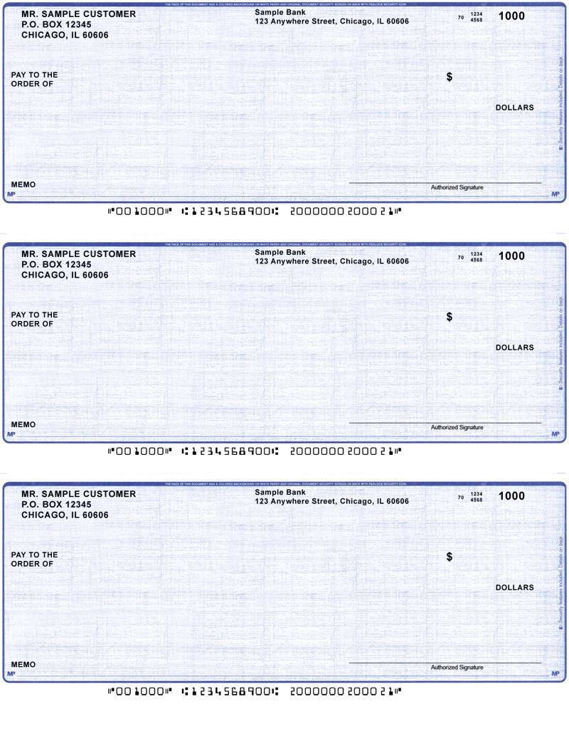 blue linen business laser    inkjet checks