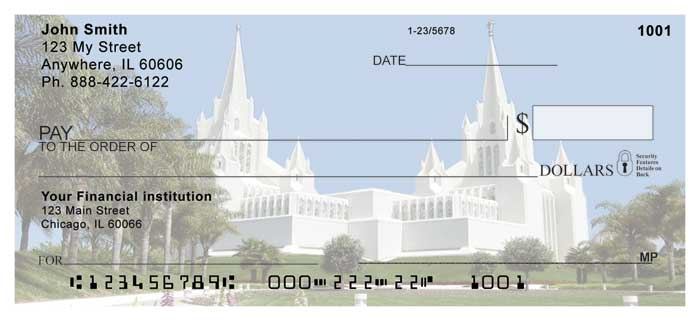 San Diego Temple Personal Checks