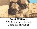 Pug Mugs Address Labels