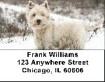 Westie Dog Address Labels