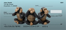Wise Monkeys Personal Checks