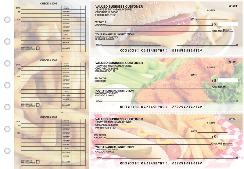 American Cuisine Accounts Payable Designer Business Checks