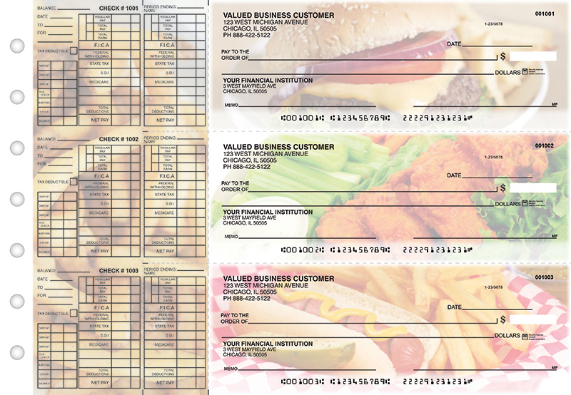 American Cuisine Payroll Designer Business Checks