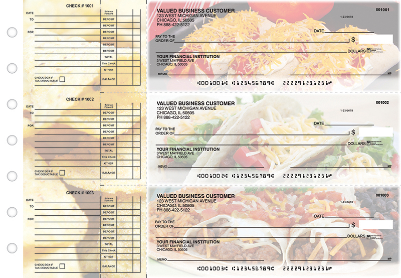 Mexican Cuisine Accounts Payable Designer Business Checks