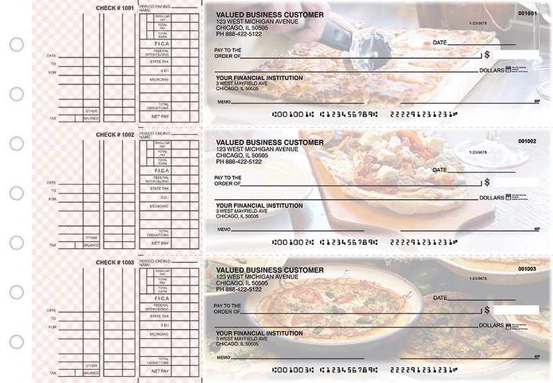 Pizza Multi Purpose Designer Business Checks