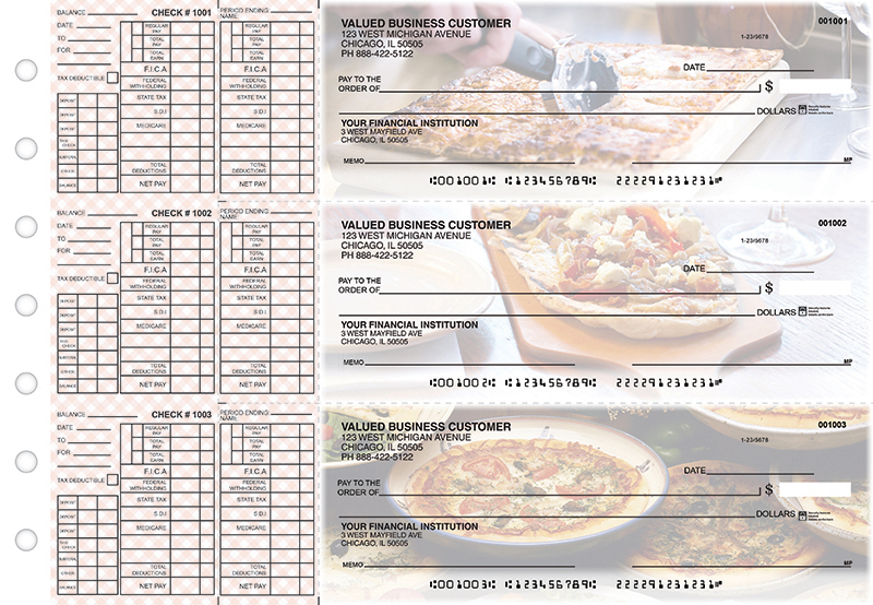 Pizza Payroll Designer Business Checks