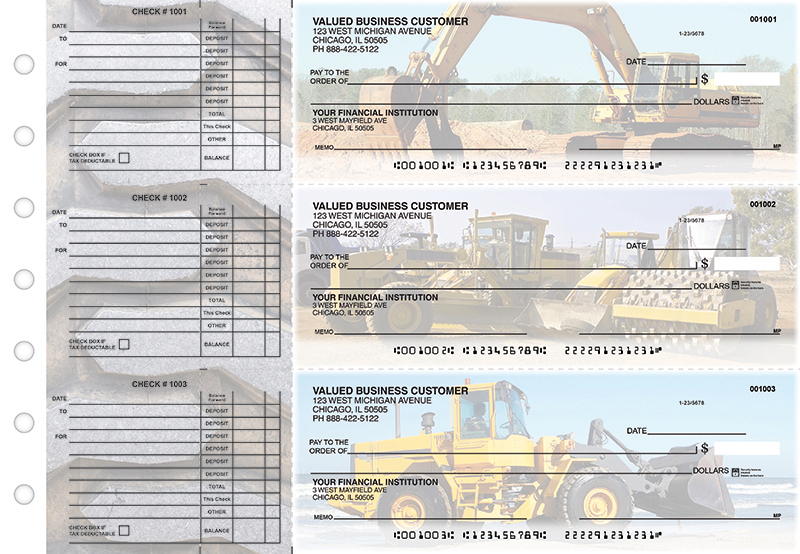 Construction Accounts Payable Designer Business Checks